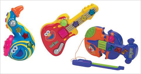 Sesamstrasse kleine Musikinstrumente